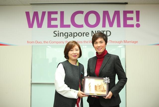 싱가포르 NPTD와 조세핀 테오 장관 듀오를 방문